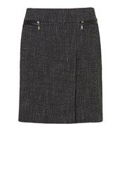 Betty Barclay Woven Skirt With Pleat Multi Coloured