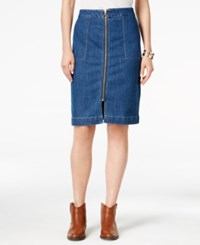 Styleandco. Style Co. Petite Zip Front Denim Skirt Only At Macy's Lake