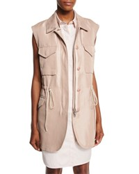 3.1 Phillip Lim Button Front Drawstring Utility Vest Blush