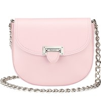 Aspinal Of London Letterbox Leather Saddle Bag Rose Dust
