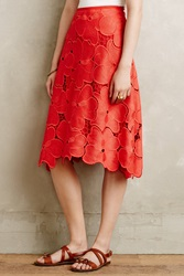 Cynthia Rowley Lace Bouquet Skirt Red