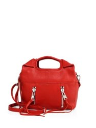 Linea Pelle Mini Wyatt Leather Crossbody Red