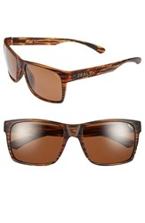 Women's Zeal Optics 'Brewer' 57Mm Polarized Plant Based Sunglasses Matte Wood Grain