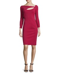 La Petite Robe Di Chiara Boni Asymmetric Cutout Sheath Dress Granata