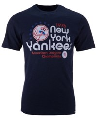 47 Brand '47 Men's New York Yankees Crosstown Scrum Bic T Shirt Navy