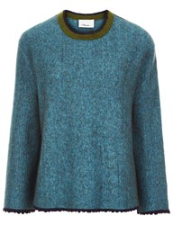 3.1 Phillip Lim Ocean Blue Crew Neck Sweater