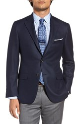 Hickey Freeman Men's Big And Tall Classic Fit Cashmere Blazer Navy