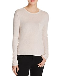 Alexander Wang T By Ecosil Long Sleeve Pocket Tee Blush