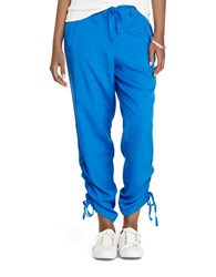 Lauren Ralph Lauren Skinny Fit Drawstring Pants Blue