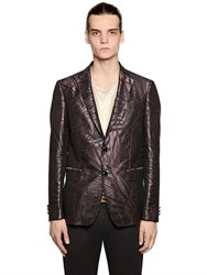 Etro Exotic Leaves Jacquard Silk Jacket