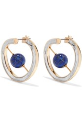 Uribe Skylark Gold And Rhodium Plated Lapis Lazuli Earrings Gold Blue