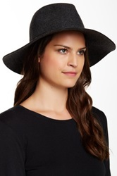Phenix Wide Brim Wool And Leather Fedora Gray