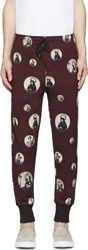 Dolce And Gabbana Eggplant Iconic Lounge Pants