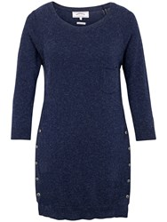 Fat Face Lola Button Jumper Navy