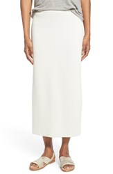 Eileen Fisher Women's Silk And Cotton Interlock Knit Pencil Skirt