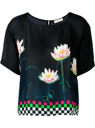 Wunderkind Printed Top Black