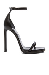 Saint Laurent Jane Leather Ankle Strap Sandals In Black