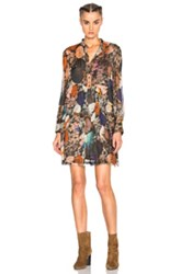 Raquel Allegra High Waisted Mini Dress In Orange Brown Floral Orange Brown Floral