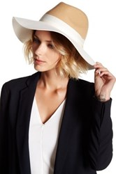 Phenix Two Tone Felt Panama Wool And Leather Hat Brown