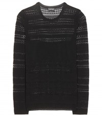 Tom Ford Crocheted Knit Top Black