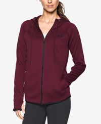 Under Armour Storm Fleece Hoodie Maroon Black