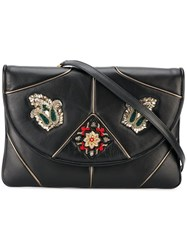Etro Embellished Shoulder Bag Black