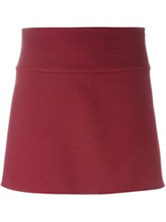 Red Valentino A Line Short Skirt Pink And Purple