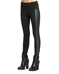 Bcbgeneration Seamed Faux Leather Leggings Black