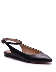 Splendid Selia Leather Slingbacks Flats Black