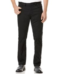 Perry Ellis Big And Tall Five Pocket Sateen Stretch Pants Black