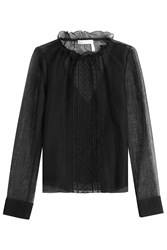 See By Chloe Embroidered Blouse With Cotton Black
