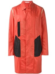 Helmut Lang Vintage Colour Block Coat Red