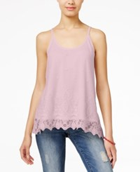 American Rag Lace Handkerchief Hem Cami Top Only At Macy's Light Pink