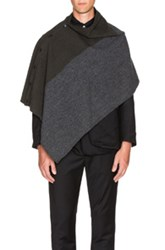 Engineered Garments Block Herringbone Button Shawl In Gray