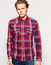 Dansk Shirt With Check In Western Style Red