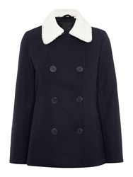 Levi's Wool Peacoat In Nightwatch Blue Navy