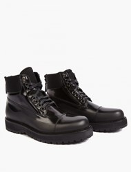 Marc Jacobs Black Rubber Coated Military Boots