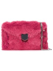 Jimmy Choo Mini 'Lockette' Envelope Clutch Pink And Purple