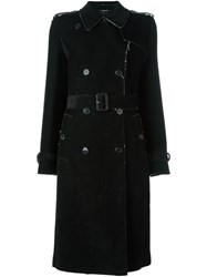 Maison Martin Margiela Belted Trench Coat Black