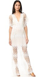 Free People Night Whispers Lace Maxi Dress Cream