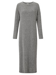 John Lewis Kin By Textured Knitted Dress Grey