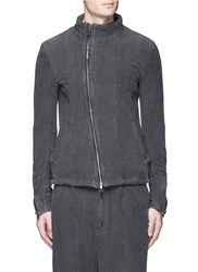 The Viridi Anne Textured Cotton Zip Jacket Grey