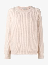Vince Wool Silk Cashmere Blend Ribbed Sweater Sand White Leopard