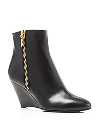 Giuseppe Zanotti Uma Zip Wedge Booties Black
