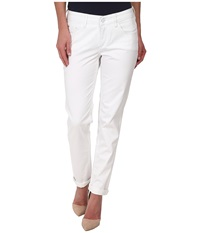 Christopher Blue Diane Roll Boyfriend Carmel Twill White Women's Casual Pants