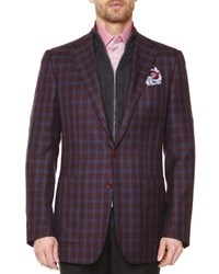 Stefano Ricci Check Two Button Jacket Red Blue