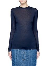 Acne Studios 'Marisol' Long Sleeve Slub Jersey T Shirt Blue