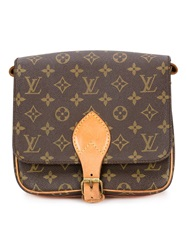 Louis Vuitton Vintage Signature Crossbody Bag Brown
