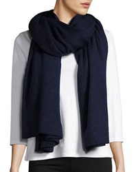 Collection 18 Ribbed Knit Wrap Navy Blue