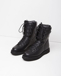 Y's Leather Mountain Boot Black